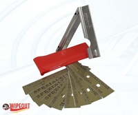 WINDOW CLIP SCRAPER COMPLETE WITH 10 BLADES