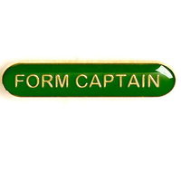 Form Captain - Bar Shaped School Badge (Green