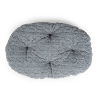 "Danish Design Oval Mattress - Bobble Fleece Grey 27"" x 1"