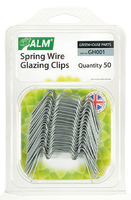 ALM Greenhouse Springwire Glazing Clips (Pack 50) - GH001