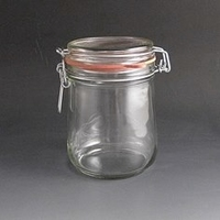 750ml Clip top glass storage jar.