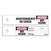 Master Lock Do not operate safety maintenance tag, spanish