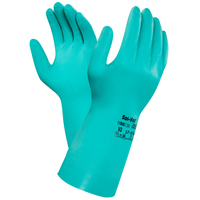 Ansell Solvex Flocklined Gloves, Green