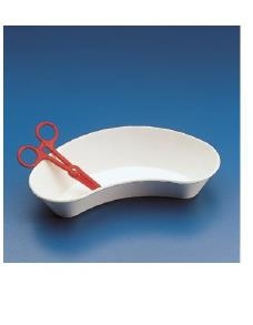 PLASTIC WHITE KIDNEY DISH (PACK 1)