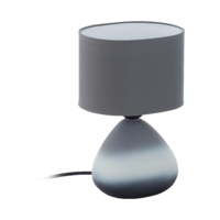 EGLO Bonilla Ceramic Grey with Grey Shade Table Lamp | LV1902.0073