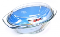 Oval Casserole Glass 2.5ltr With Lid
