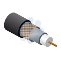 RG6 Satellite Cable Black 100mtr Reel