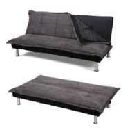 Microfibre Sofa Bed With Metal Chrome Plated Legs, Removable Cov