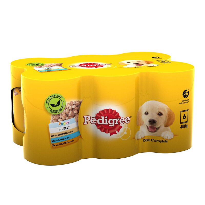 Pedigree Tins Puppy Chunks in Jelly 4 x 6 x 400g
