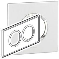 Arteor (British Standard) Plate 2x2m 2 Gang Round White | LV0501.0110