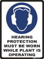 Hearing Protection Must Be Worn While Plant Is Operating