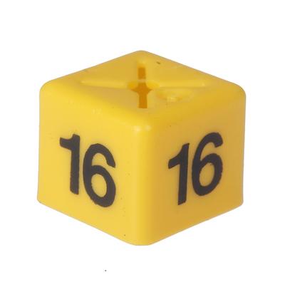 SHOPWORX CUBEX 'Size 16' Size cubes - Yellow(Pack 50)