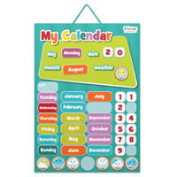 Small magnetic wall calendar for kids