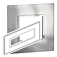 Arteor (British Standard) Plate 8 Module Square Stainless Steel | LV0501.0204