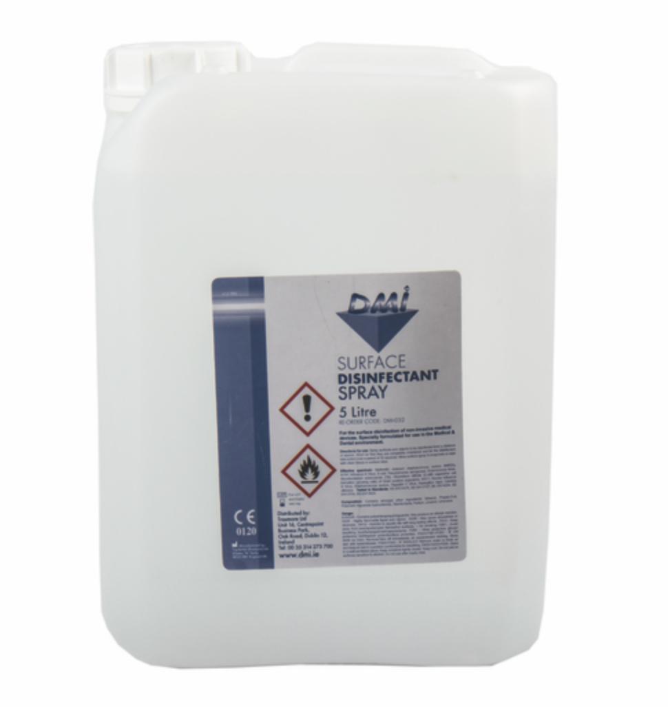 DMI Surface Disinfectant Liquid 5L - DMI Dental Supplies Ireland - Next Day Delivery
