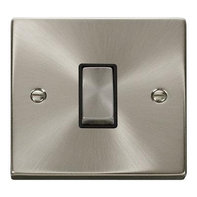 Click Litehouse DECO 1G 2Way Ingot Switch Black Insert Satin