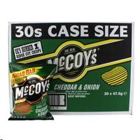 Mccoys Cheddar & Onion Crisps 30x47.5g