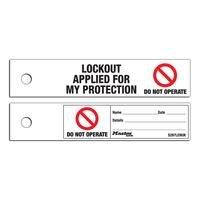Master Lock Do not operate safety maintenance tag, uk english