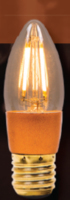 LED VINTAGE CANDLE AMBER  DIMMABLE LAMP 240 VOLT 4 WATT ES 300 LUMEN 2000K 15000 HOUR