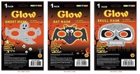 Glow Halloween Masks Assorted. (Priced in singles, order in multiples of 12)