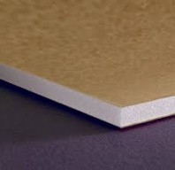 "Foam Board 3mm POP Kraft/White 48""x36"""