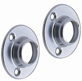 Round Chrome End Sockets 1 inch Pair