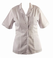 Homecare White Tunic With Collar