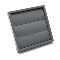 100mm / 4 inch Gravity Grille Black