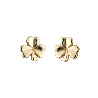 10K SHAMROCK STUD SMALL 11 MM POST