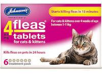 Johnson's 4-Fleas Cat & Kitten Flea Tablets - 6 Treatment x 1