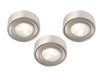 COMMAND 60W three cabinet light kit , IP20, 55mm, Brushed chrome