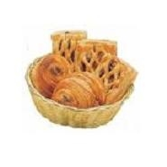 "Basket Round Poly Rattan 7"" 180mm Dia"