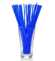 """Collins 8"""" Straight Blue Straws Pack of 1,000"""