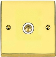 VICTORIAN BRASS HERITAGE 1 GANG TV/COAXIAL ISOLATED SOCKET WHITE INSERT