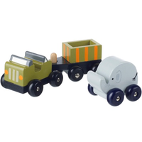 wooden safari truck set