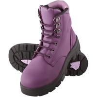 Steel Blue Argyle Women's Lace Up Ankle Boots