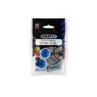 GRIPIT 25mm Blue GRIPIT Pack of 4