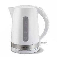 MR PREMIUM PLASTIC JUG KETTLE 1.7 LITRE RAPID BOIL WHITE/SILVER TRIM