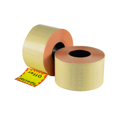 LYNX CT15 37x28mm Permanent Labels 'Special Offer' - Yellow Square (Box 17.5k)