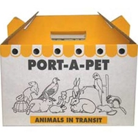 Shaws Port-A-Pet Cardboard Cat Carriers x 10