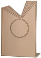 7cm Aluminium Ribbon Plaque (Bronze) V201C