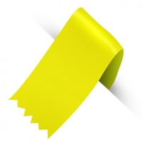 31MM MOIRE YELLOW RIBBON X100M