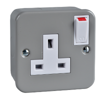 Metalclad Exclusive 1 Gang Unswitched Socket