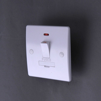 220v-250v 50-60Hz 13A FUSED UNIT D.P.Switch With NEON