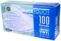 Supertouch Powdered Vinyl Gloves, Blue