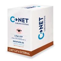 C-NET CAT6 UTP PE External Cable Black- 305m Box