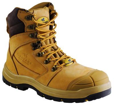 Mustang Think Big 7120 Nitrile Sole 300°C Lace Up Safety Boot with Scuff Cap Wheat