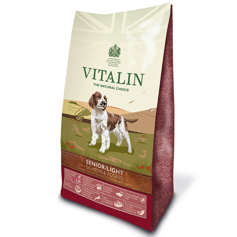 Vitalin Senior/Lite Wheat Free Salmon & Potato 2kg