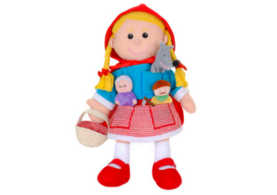 Little Red Riding Hood hand and finger puppet set