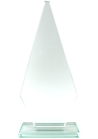 26cm Jade Econ Glass Plaque (Plain Box)